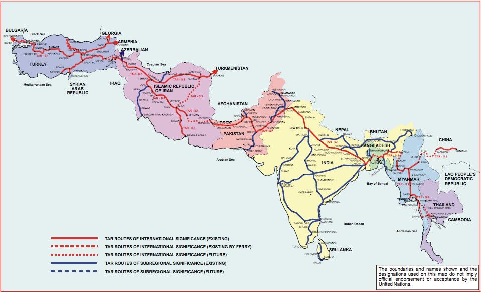 Trans-Asian Railway southern corridor.