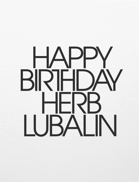 Louise Fili Designed Herb Lubalins Birthday Party