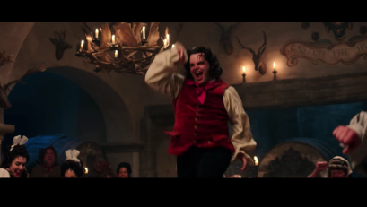LeFou in Beauty and the Beast's trailer.