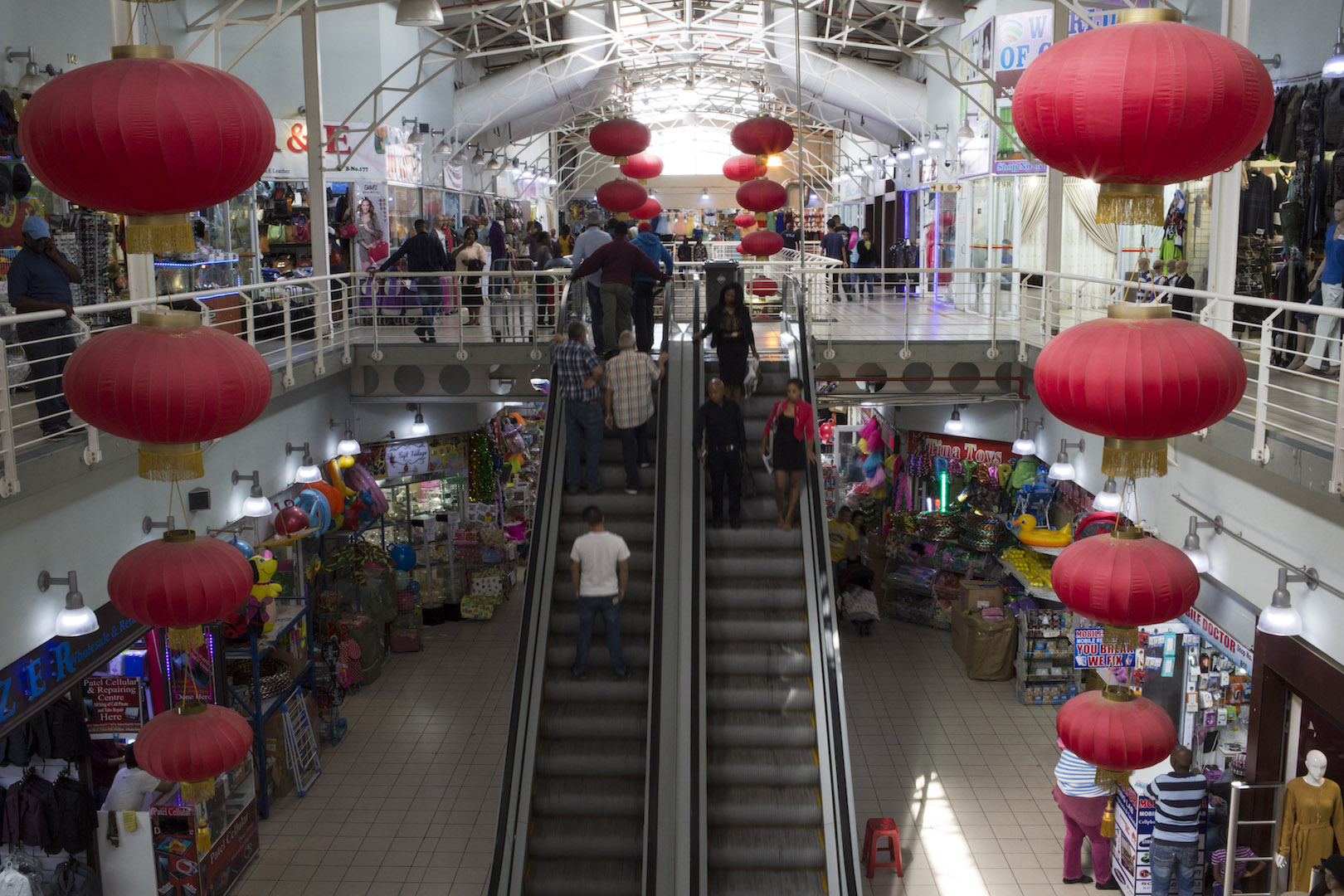 Johannesburg South's, China Mall. The mall is very popular on weekends and caters for all shoppers, offering competitive pricing compared to the more 'mainstream' shopping districts in Johannesburg.
