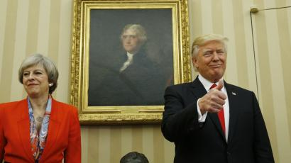 British prime minister Theresa May with US President Donald Trump