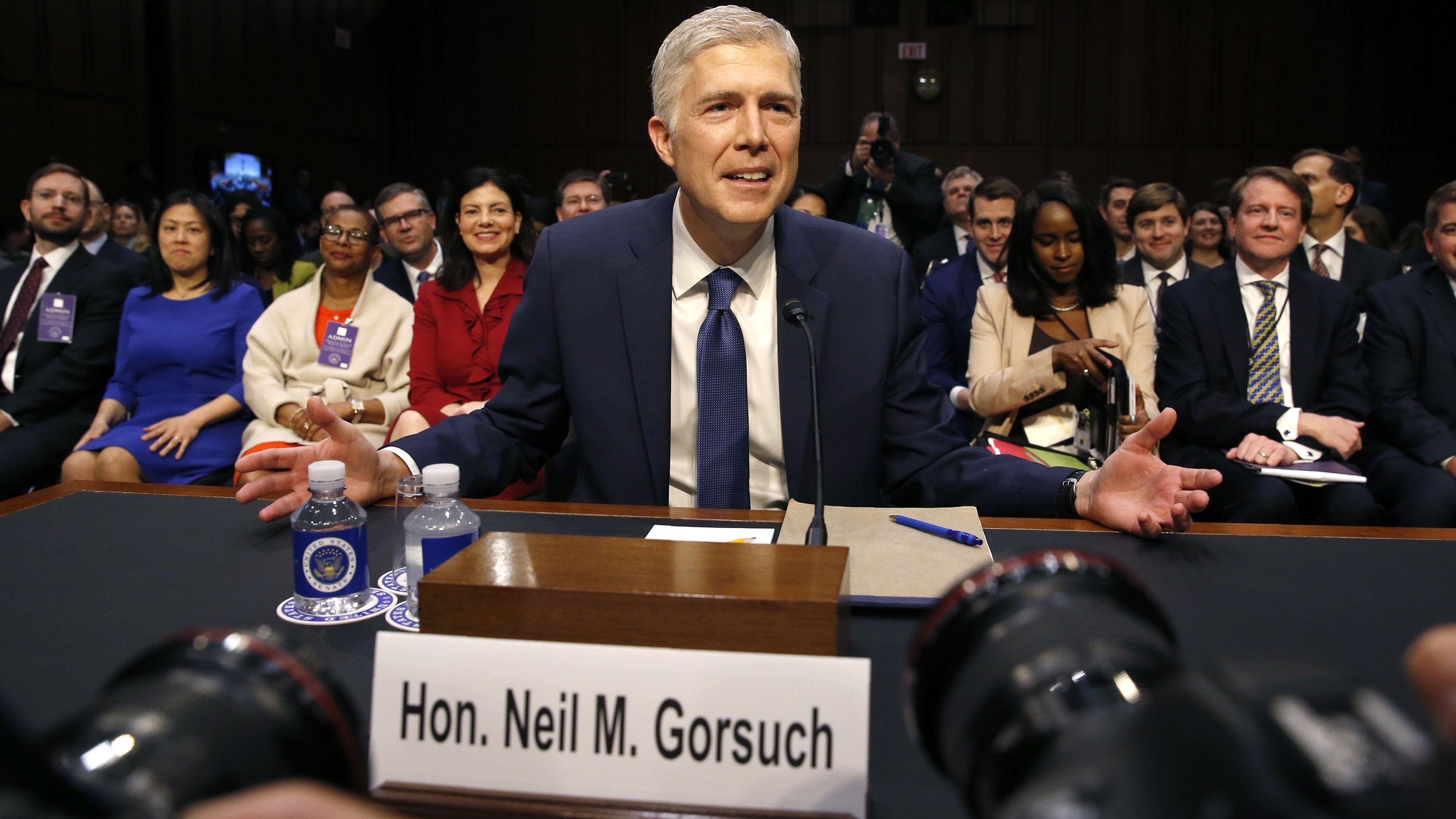 Supreme Court nominee judge Gorsuch attends his Senate Judiciary Committee confirmation hearing in Washington.