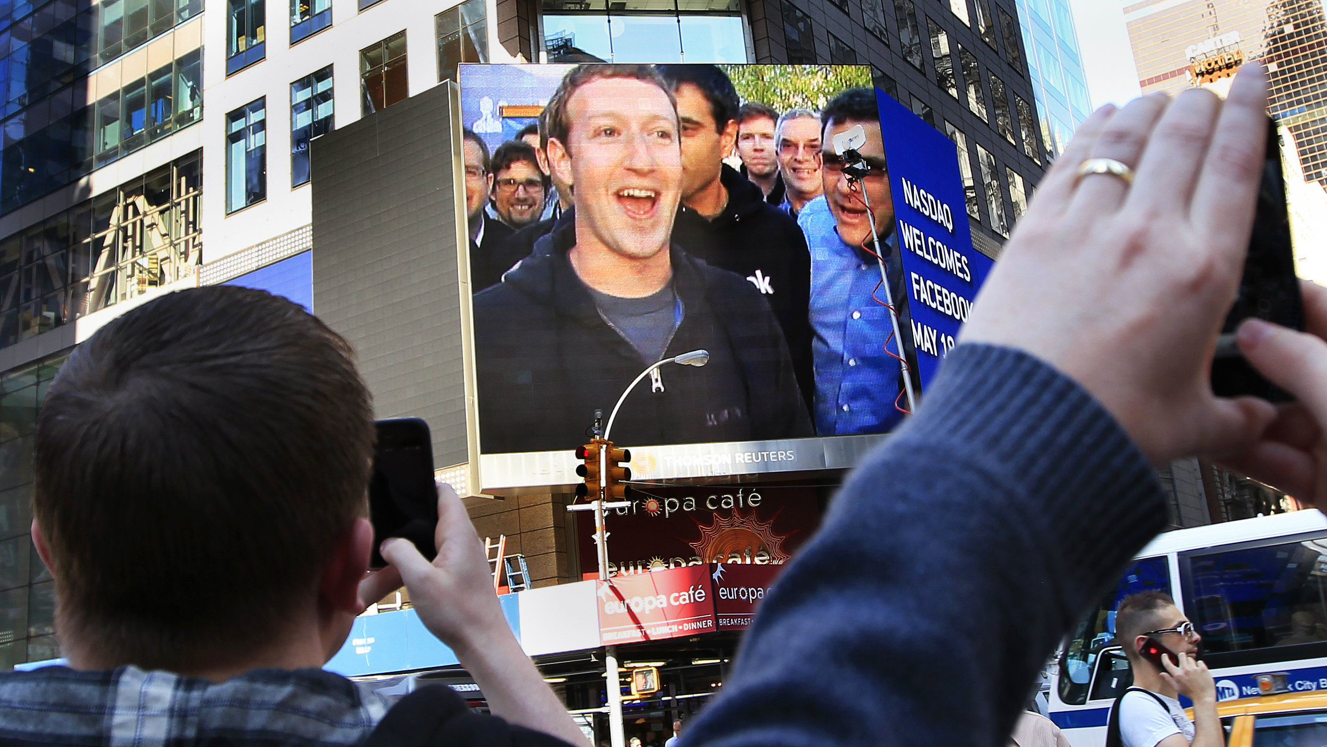zuckerberg on big screen