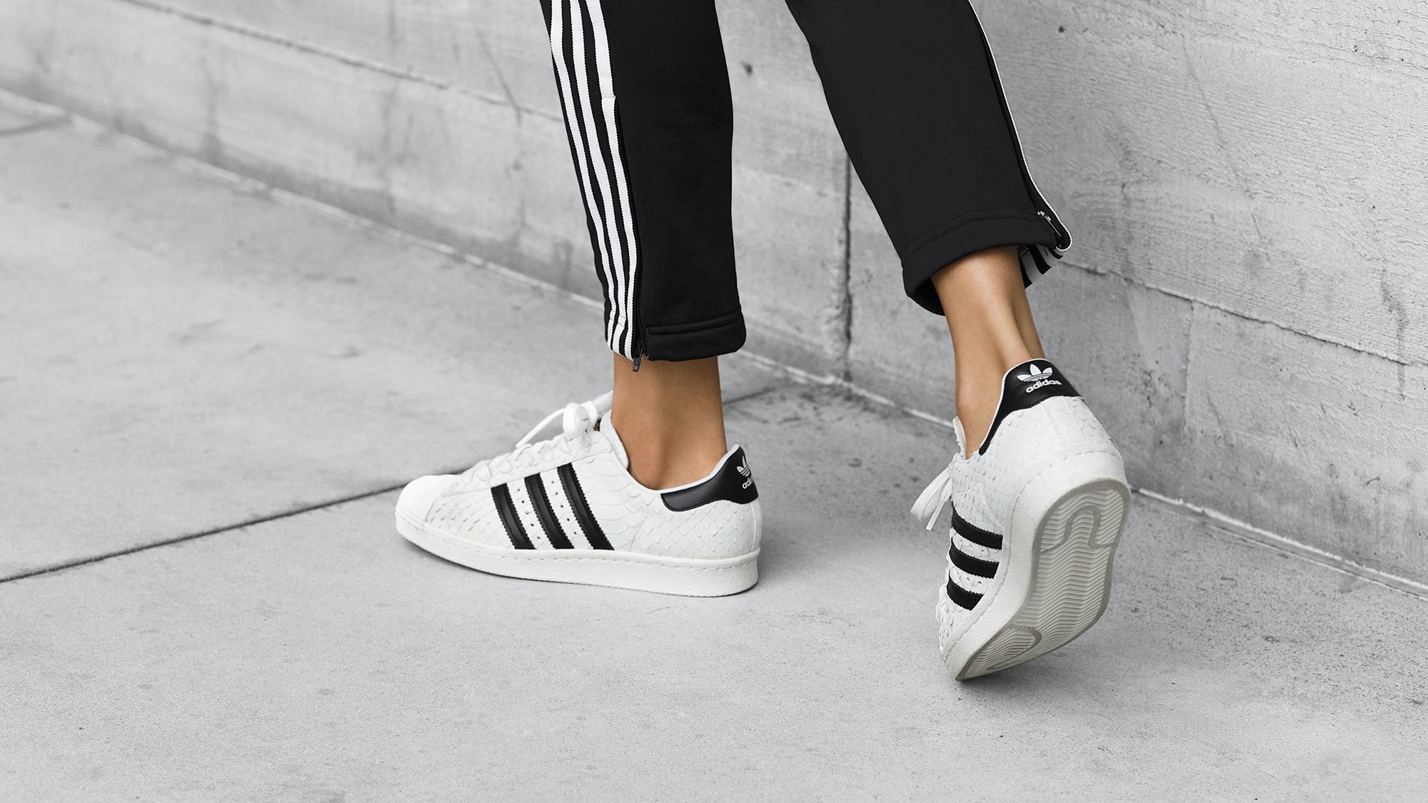 Womens White Blue 2017 Stylish Adidas Shoes