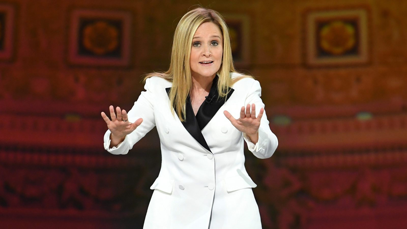 WASHINGTON, DC - APRIL 29:  Host Samantha Bee speaks onstage during Full Frontal With Samantha Bee's Not The White House Correspondents' Dinner at DAR Constitution Hall on April 29, 2017 in Washington, DC.  (Photo by Dimitrios Kambouris/Getty Images for TBS) *** Local Caption *** Samantha Bee