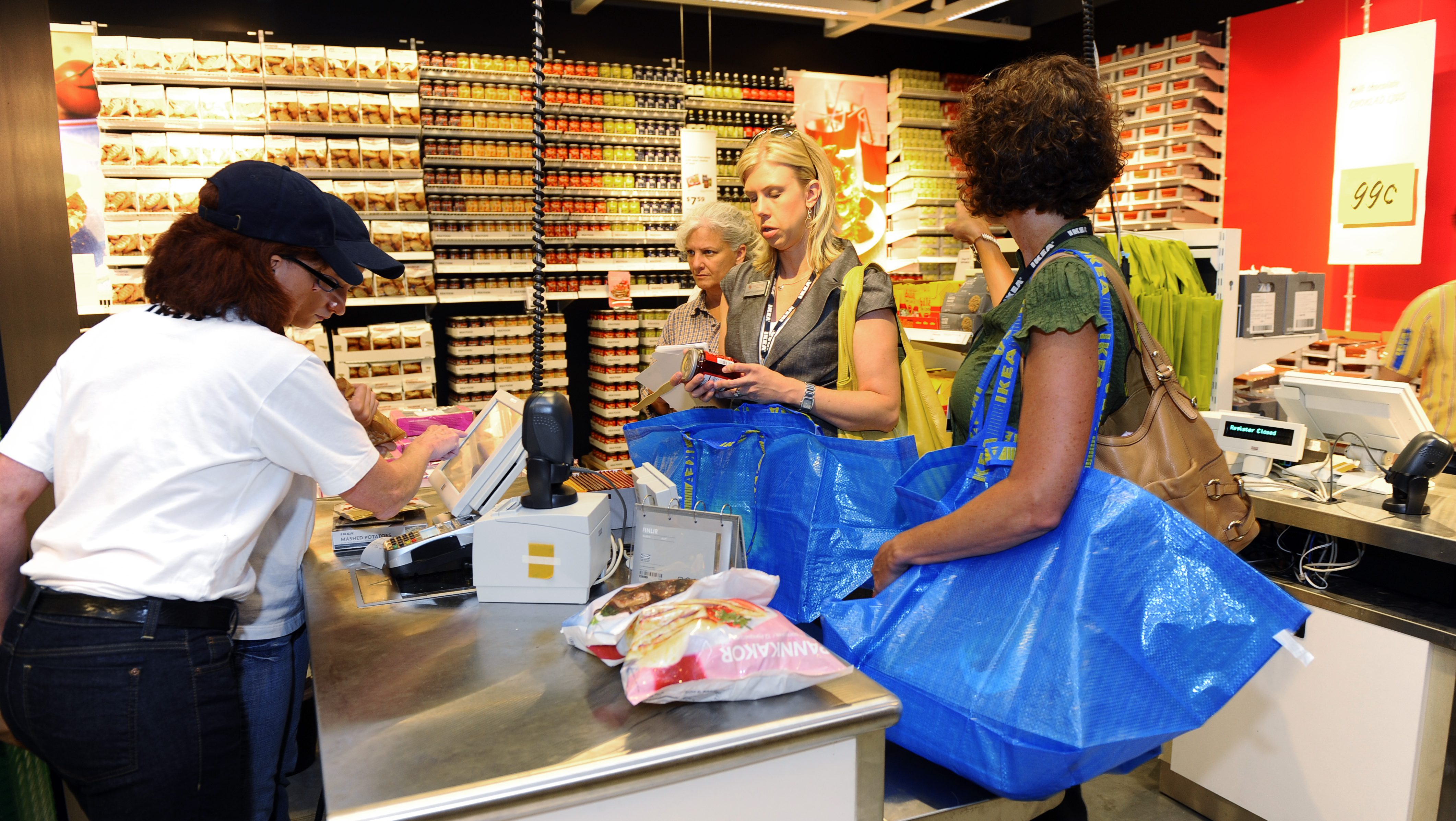 Customers shop at the IKEA grand opening in the Denver suburb of Centennial, Colo.,  Wednesday, July 27, 2011. (Jack Dempsey/AP Images for IKEA)