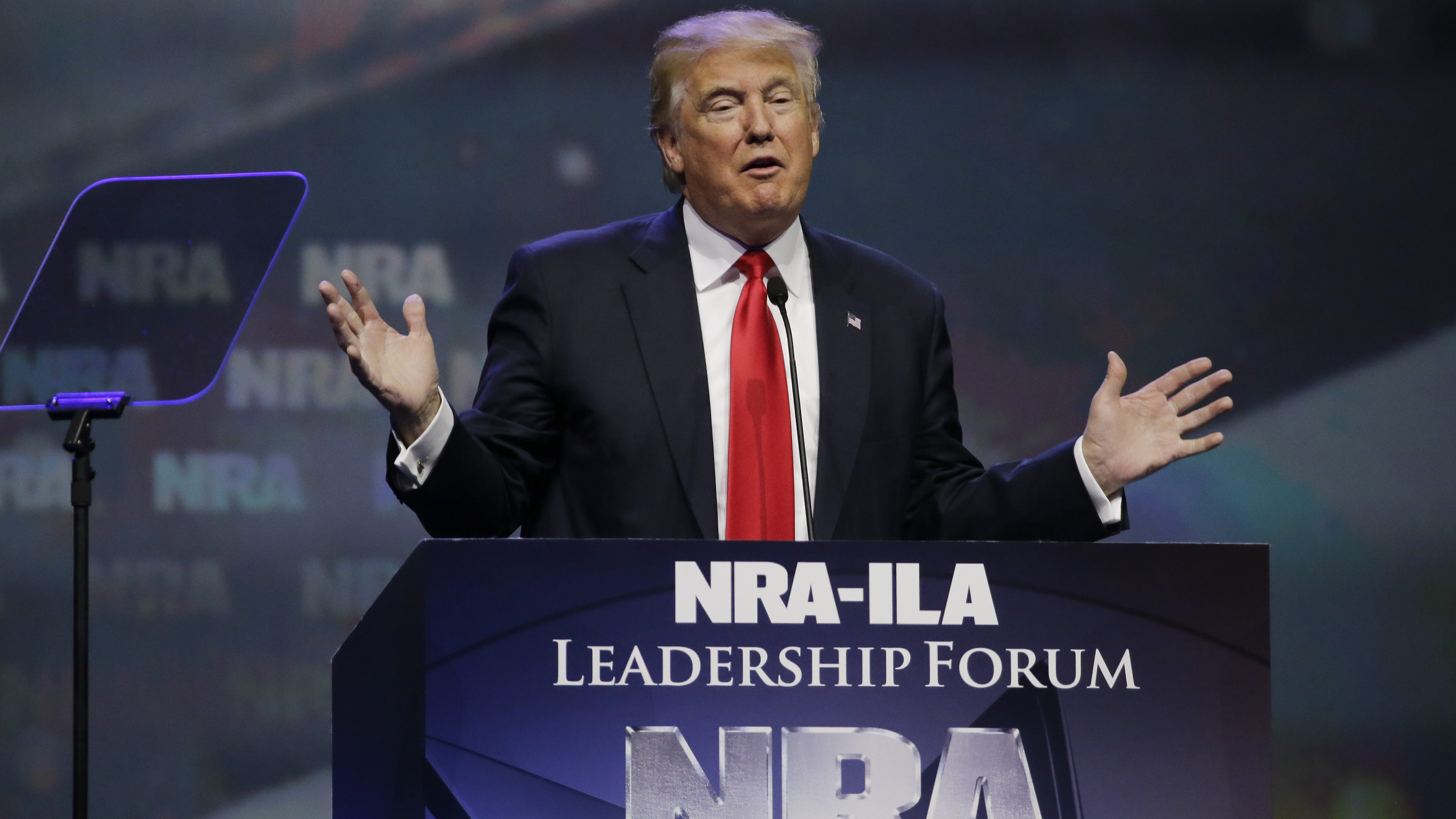 Trump's campaign received enormous support from the NRA.