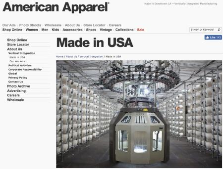 American Apparel, owned by Gildan (GIL), is making its first