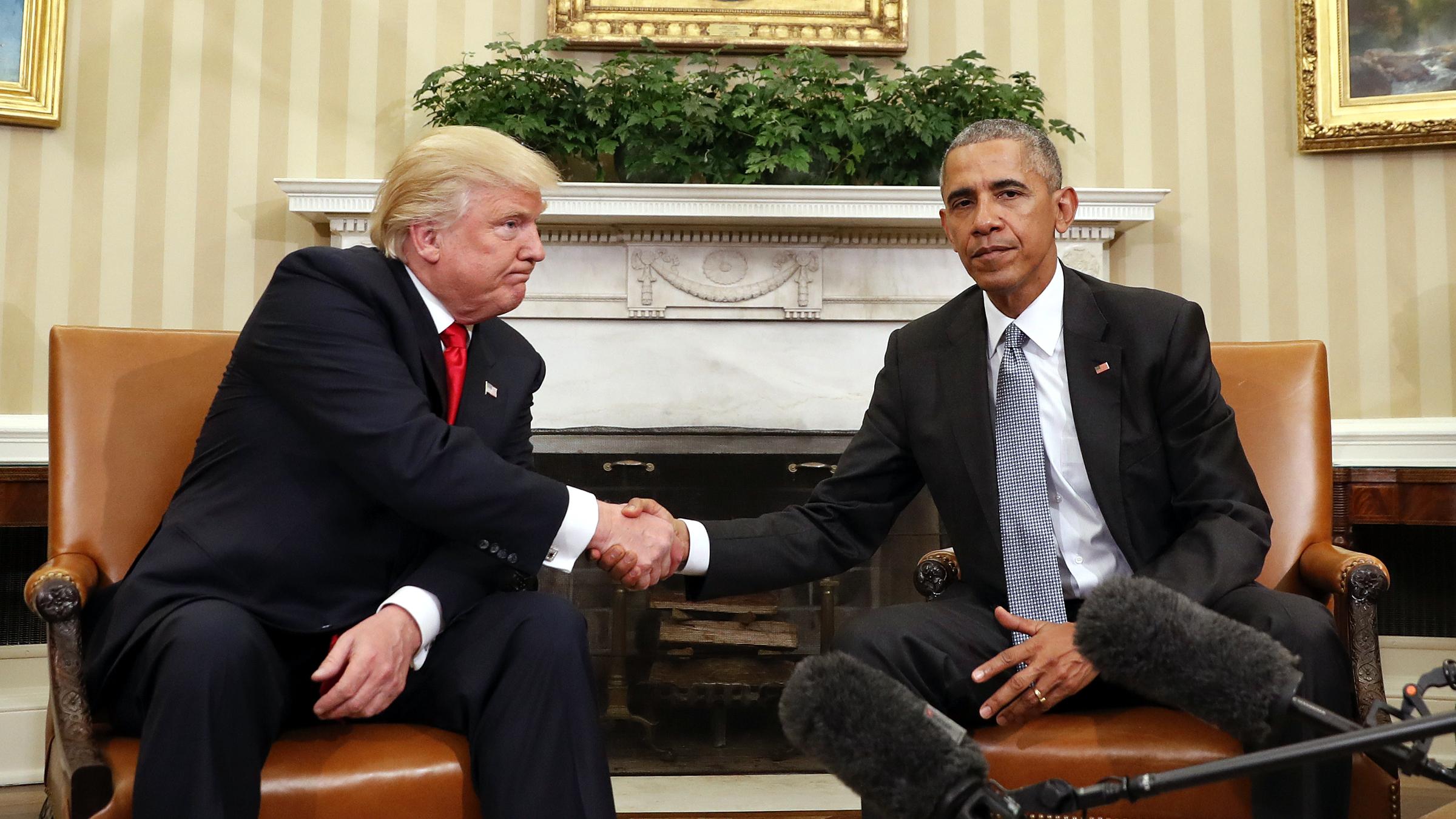 Donald Trump And Barack Obama