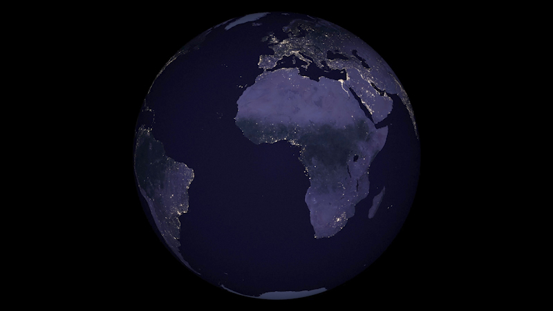 Nasas black marble map shows the light of human population nasas black marble map shows the light of human population centers at night throughout 2016 quartz gumiabroncs Gallery