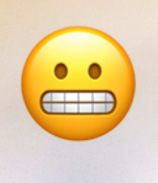 The 😬 emoji is the best emoji—long live the grimacing emoji