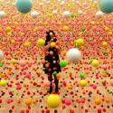 art with colored balls