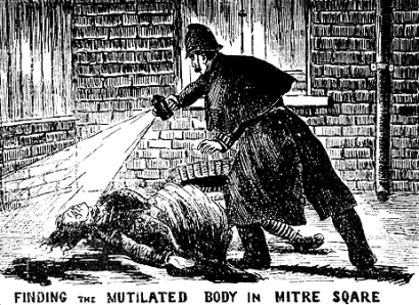 Newspaper illustration of a Ripper murder.