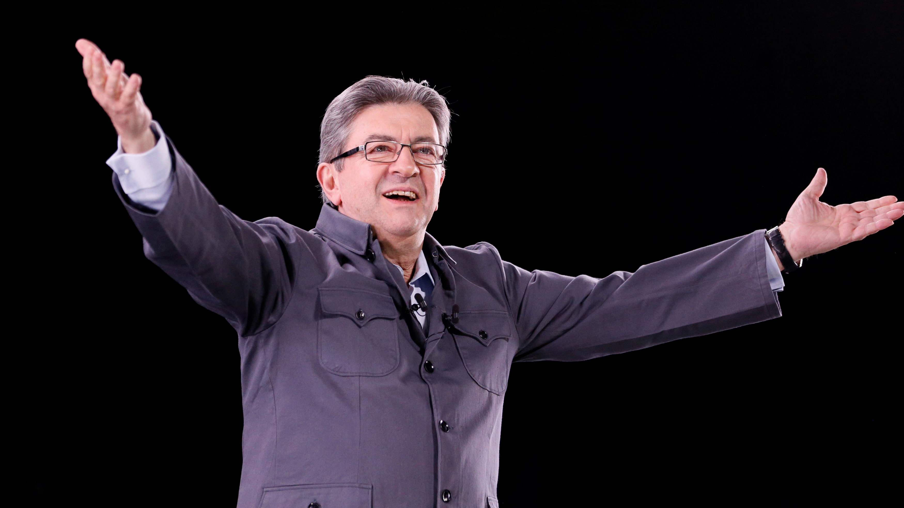 Far-left French presidential candidate Jean-Luc Melenchon