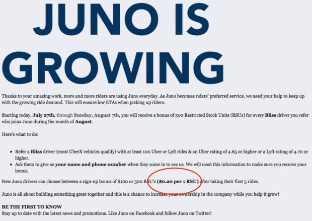 Juno Ubers Driver Friendly Competitor Sold To Gett For 200