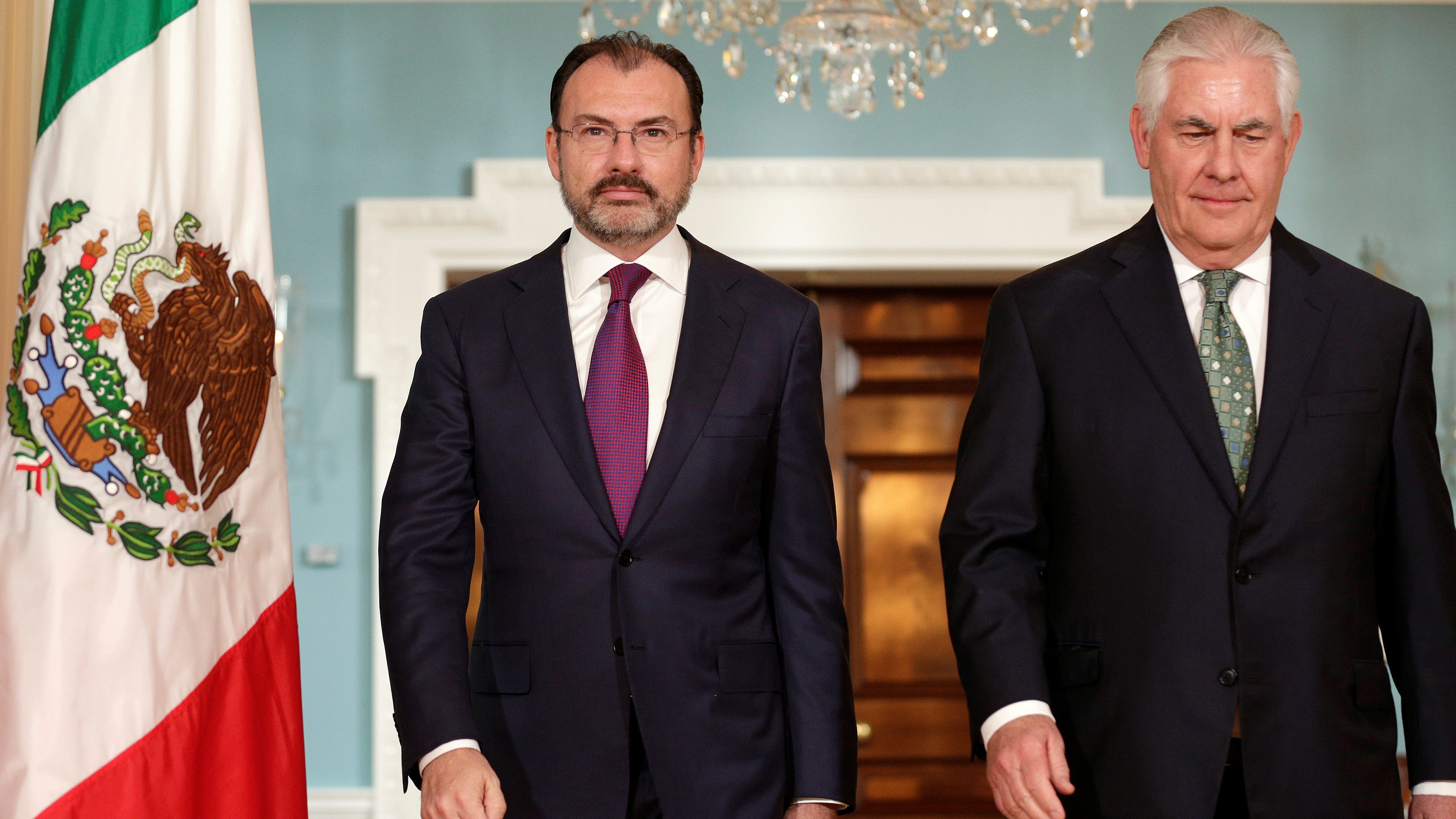 US Secretary of State Rex Tillerson and Mexican Foreign Minister Luis Videgaray