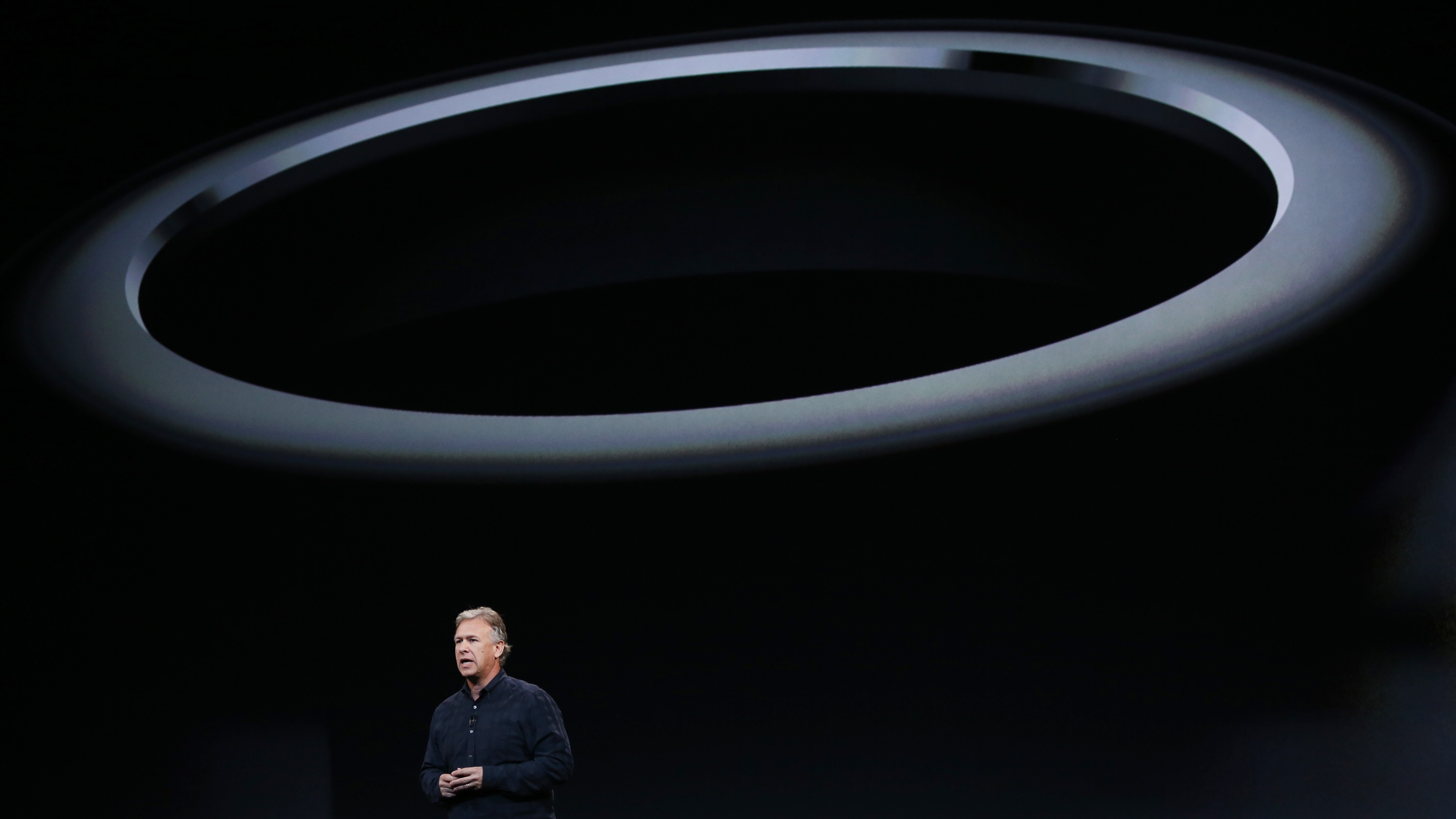 Philip W. Schiller, the Senior Vice President of worldwide marketing at Apple Inc speaks on stage during...