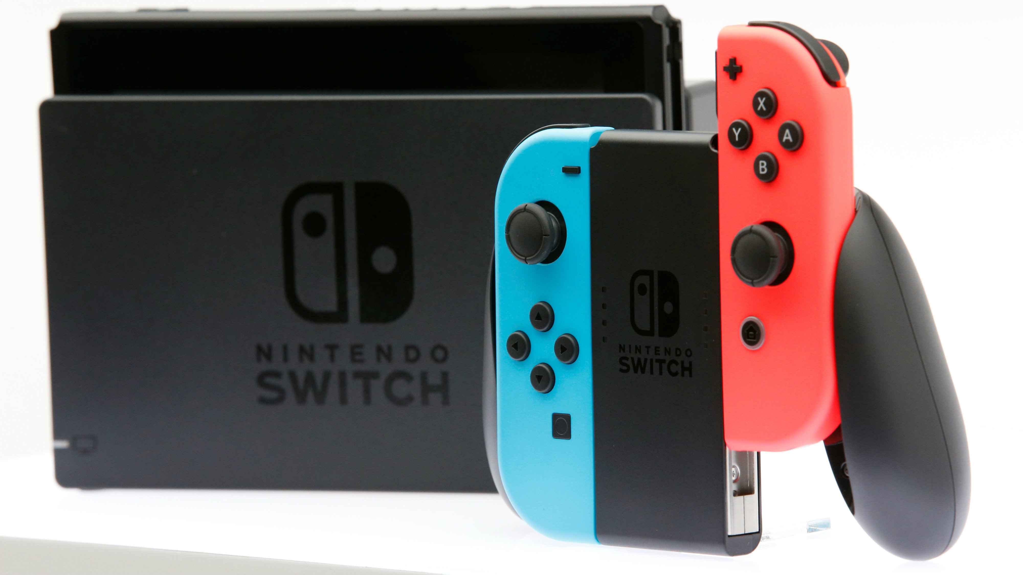 Nintendo's new game console Switch is pictured after its presentation ceremony in Tokyo, Japan