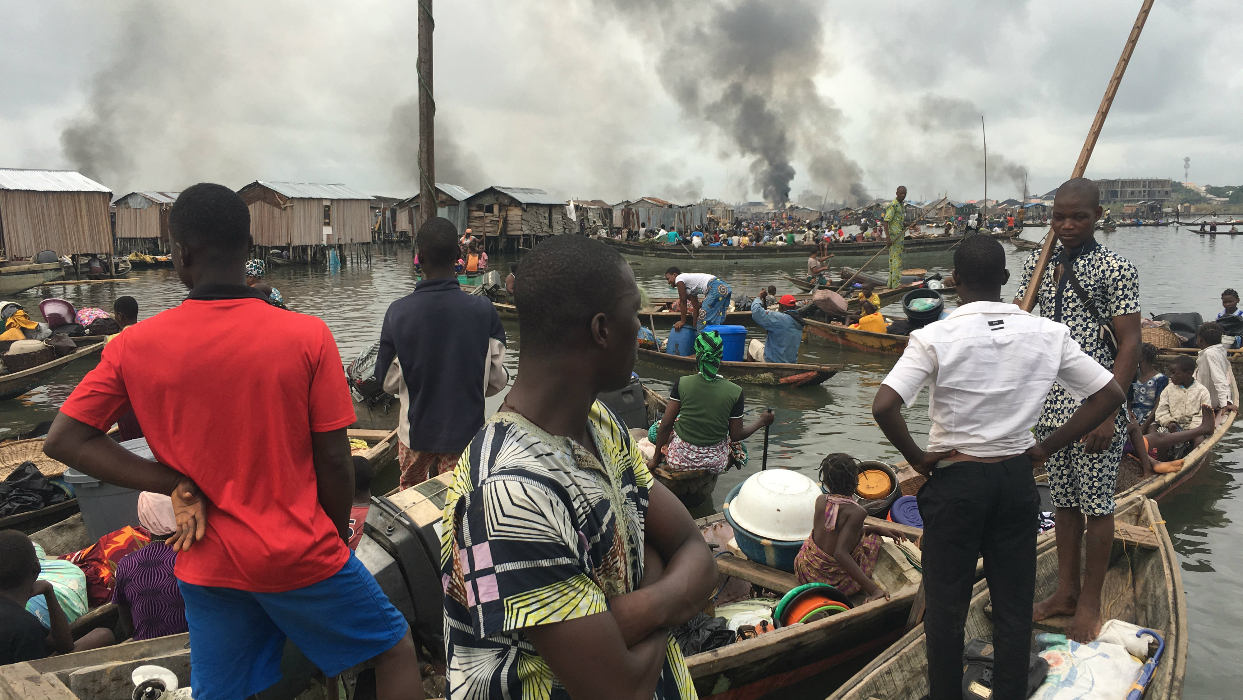 Forced eviction and demolition of Otodo Gbame community by Lagos State Task Force .