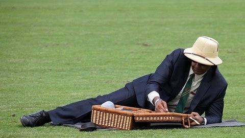 Man picnicking solo.