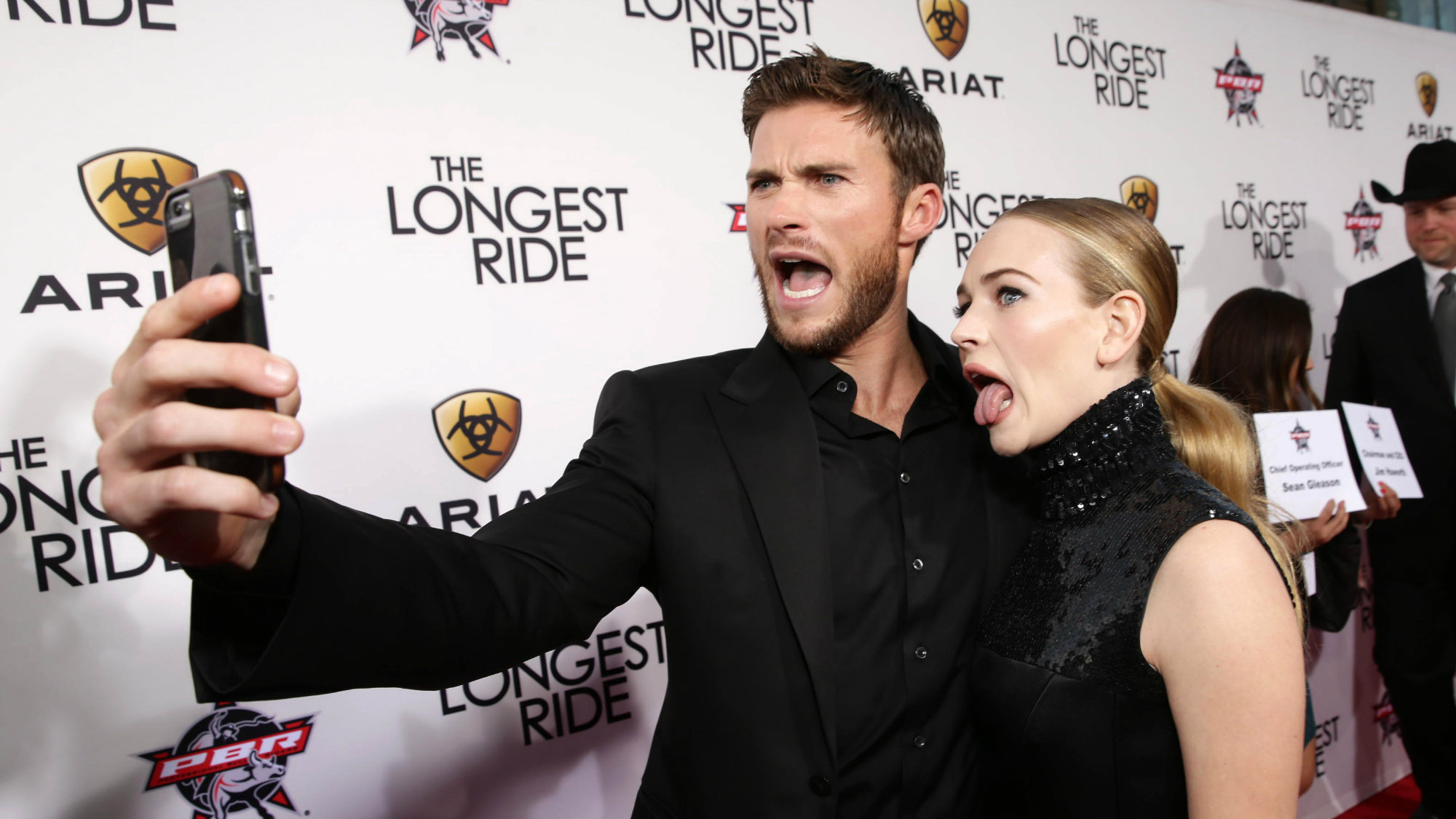 "Scott Eastwood and Britt Robertson seen at the Twentieth Century Fox Premiere of ""The Longest Ride"" held at TCL Chinese Theatre on Monday, April 6, 2015, in Hollywood."