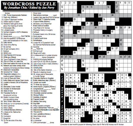 San Quentin State Prison Publishes A Crossword Puzzle Written By An Inmate Serving A Life Sentence Quartz