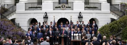 Trump with the New England Patriots