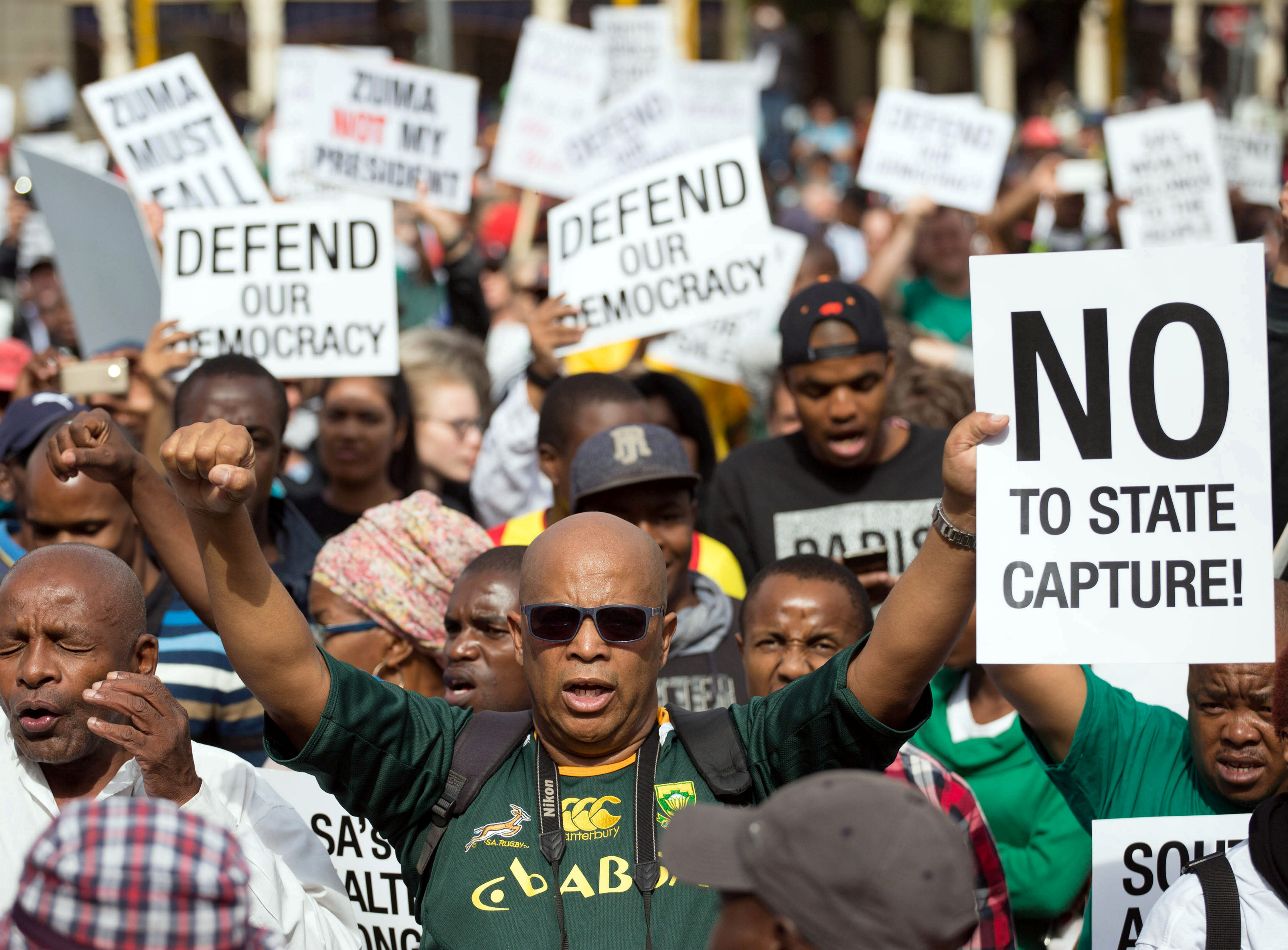Protests against South Africa's president Jacob Zuma increase as young people join in
