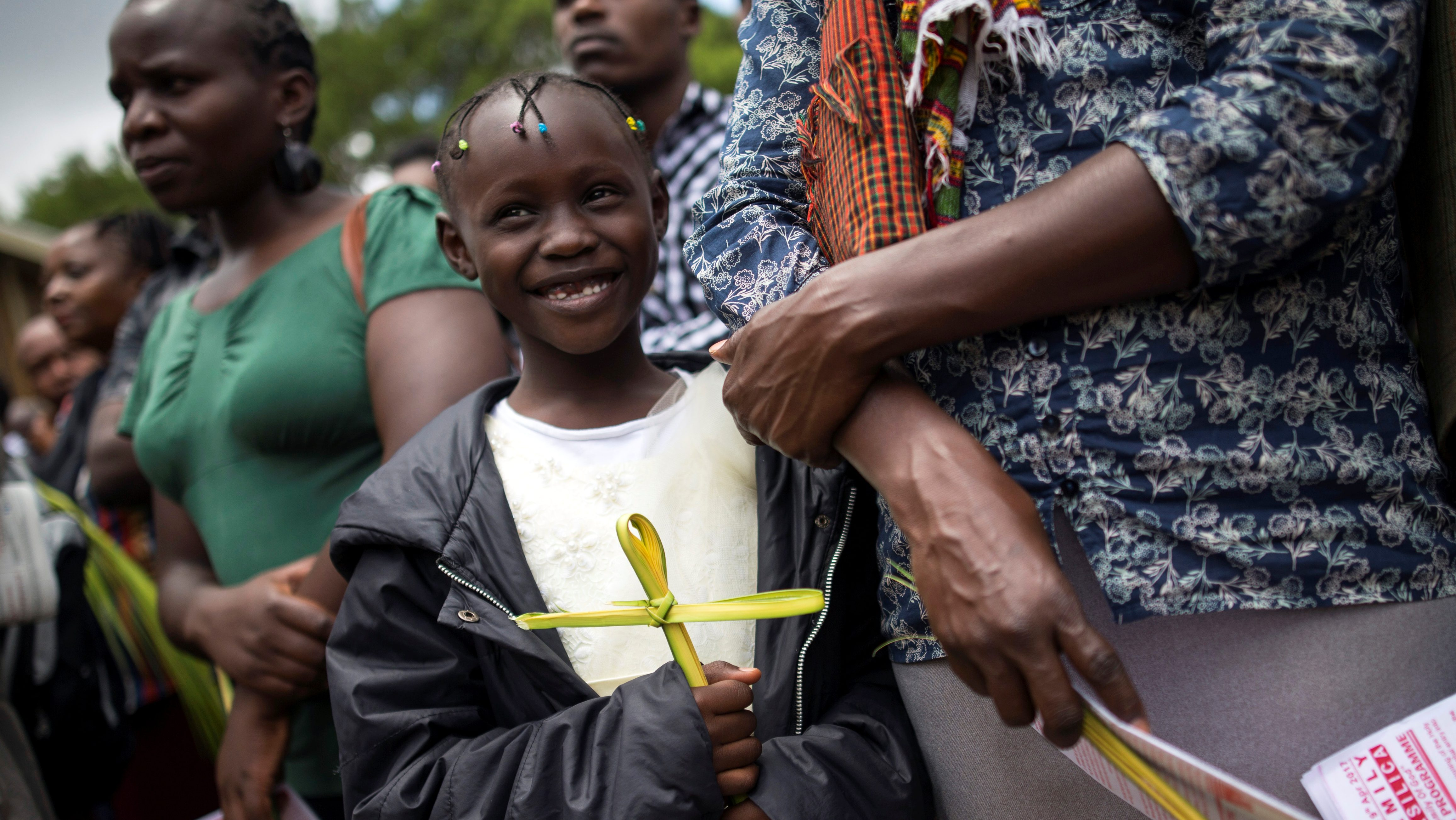 Catholic Christian worshippers take part in a Palm Sunday ceremony in Nairobi, Kenya April 9, 2017.