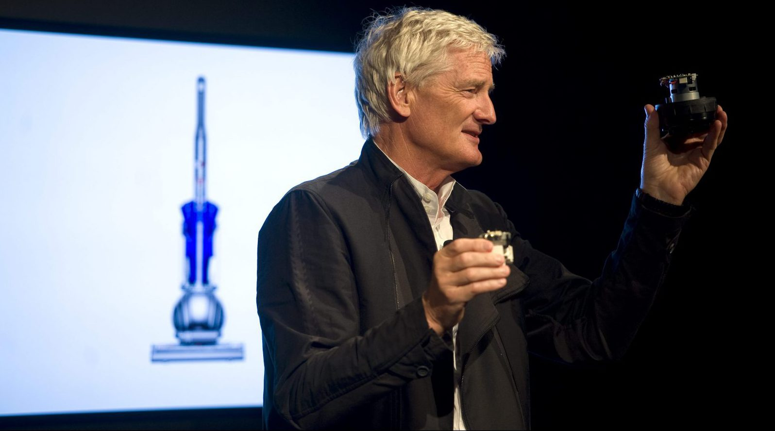 Inventor James Dyson launches the Dyson DC41 Ball vacuum and the Dyson Hot heater fan on Wednesday, Sept., 14, 2011 in New York. Both machines are available in retail stores nationwide this week.