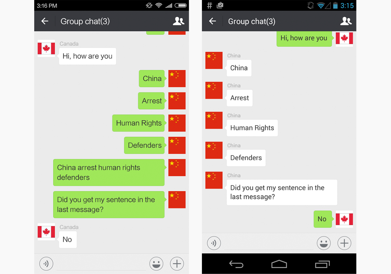 How WeChat censors politically sensitive messages, as