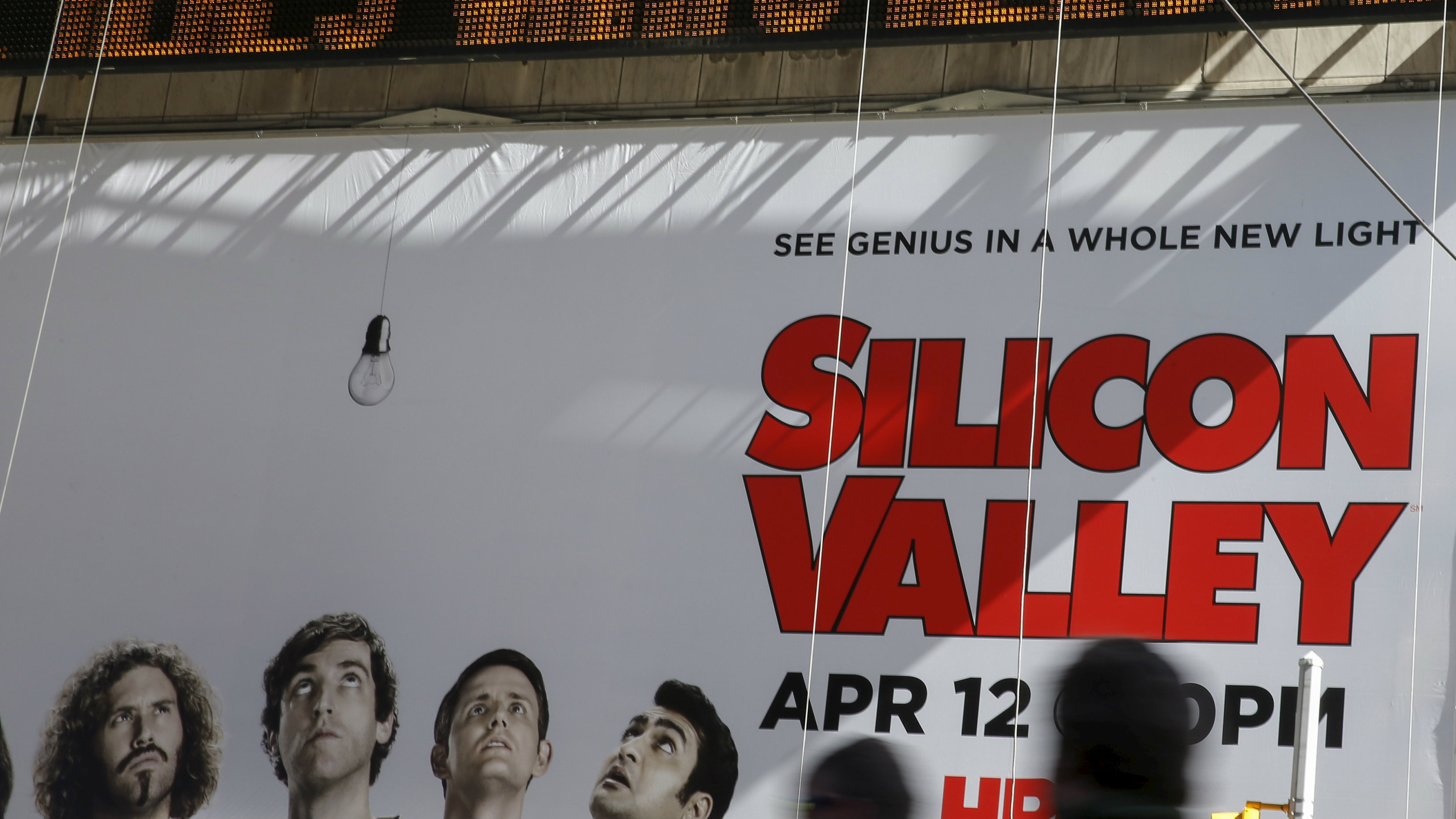 "Billboard advertisement of HBO television show ""Silicon Valley."""