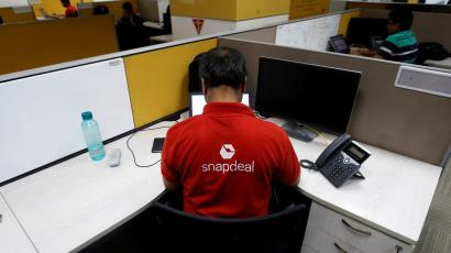Employees work inside Snapdeal headquarters in Gurugram