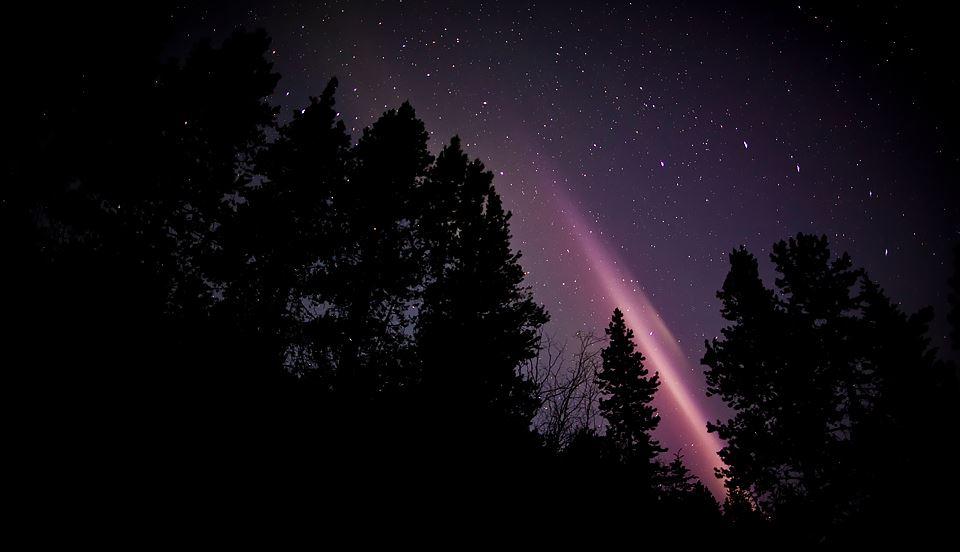 pink steve on a dark sky