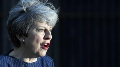 Britain's Prime Minister Theresa May speaks to the media outside 10 Downing Street,