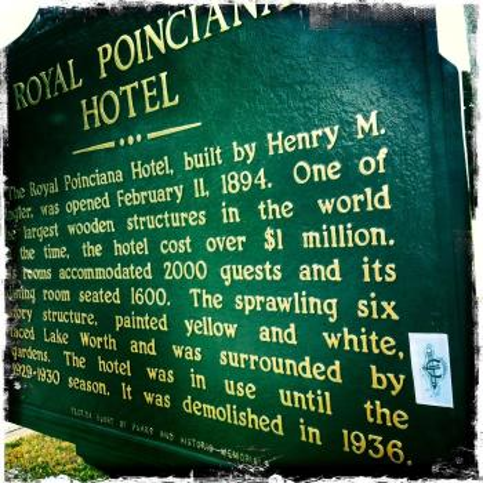 Flagler hotel signage.