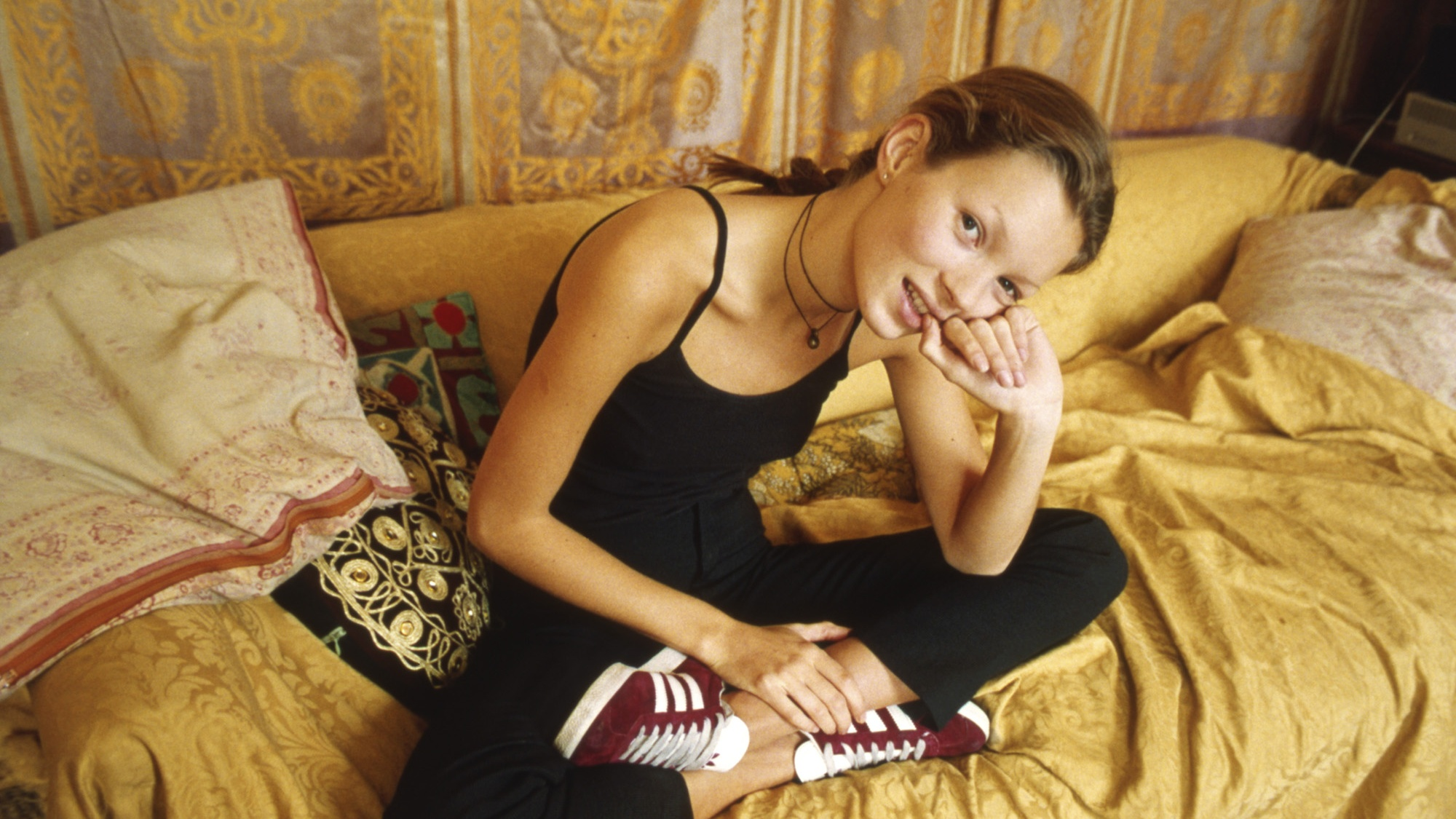 Kate Moss in Adidas Gazelles