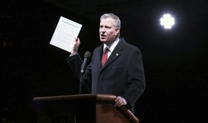 New York mayor Bill de Blasio, who hasn't shied away from attacking Trump, has promised to commit NYC to the Paris accord no matter what the president does.