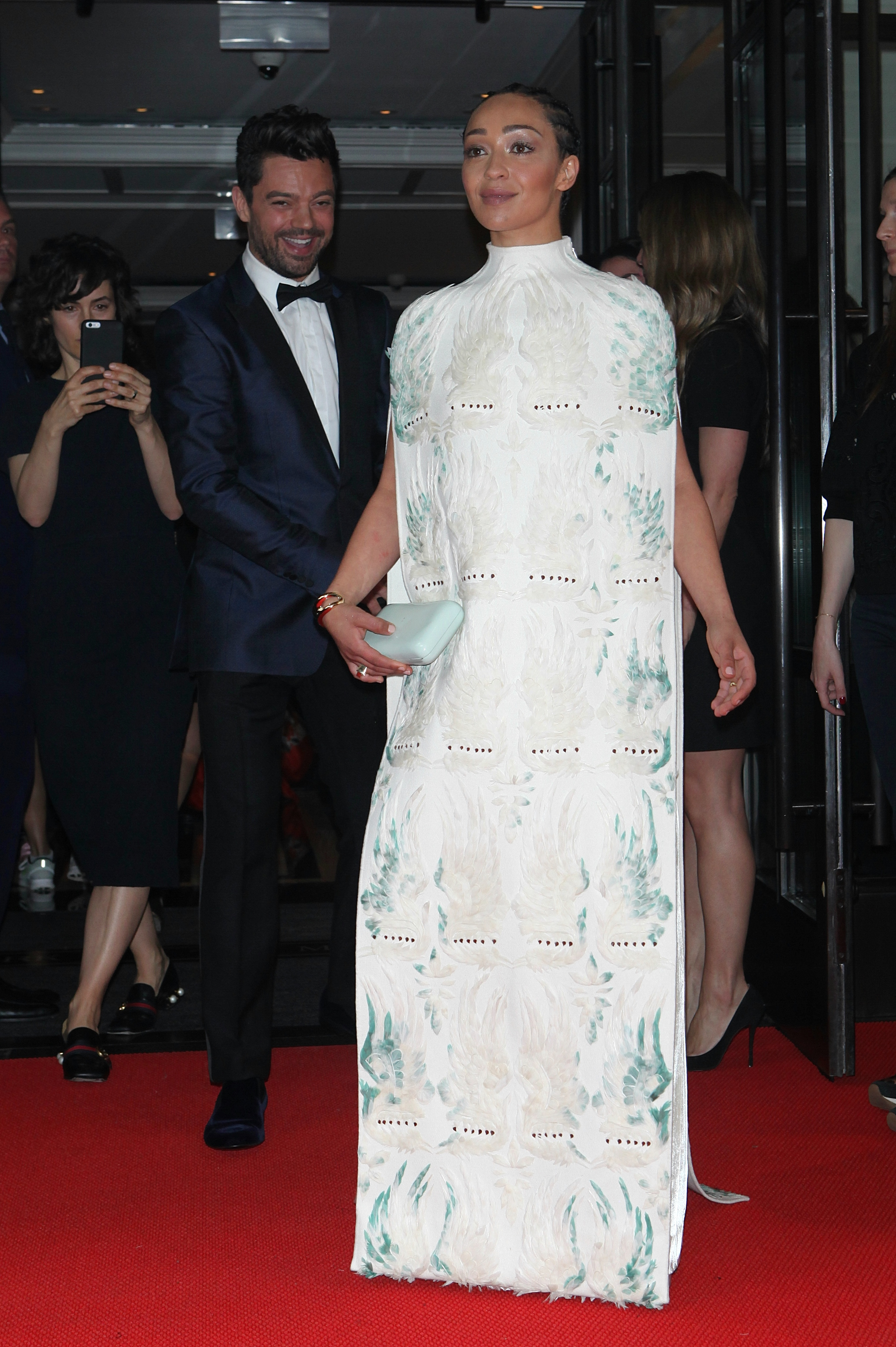 NEW YORK, NY - MAY 1: Ruth Negga and Dominic Cooper seen leaving The Mark Hotel to The Met Gala on May 1, 2017 in New York City. Credit: Diego Corredor/MediaPunch/IPX