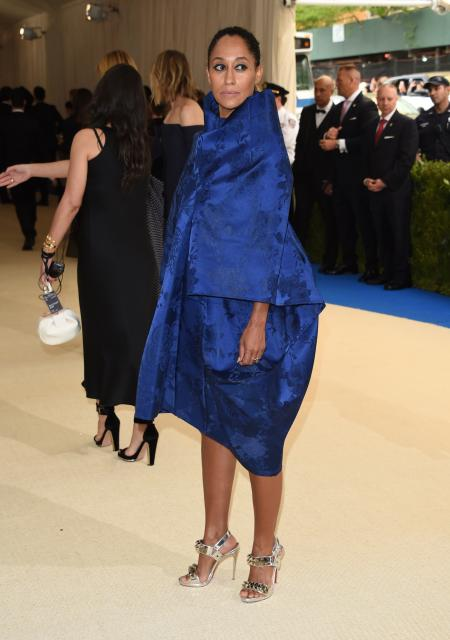 Tracee Ellis Ross attends The Metropolitan Museum of Art's Costume Institute benefit gala celebrating the opening of the Rei Kawakubo/Comme des Garçons: Art of the In-Between exhibition on Monday, May 1, 2017, in New York. (Photo by Evan Agostini/Invision/AP)