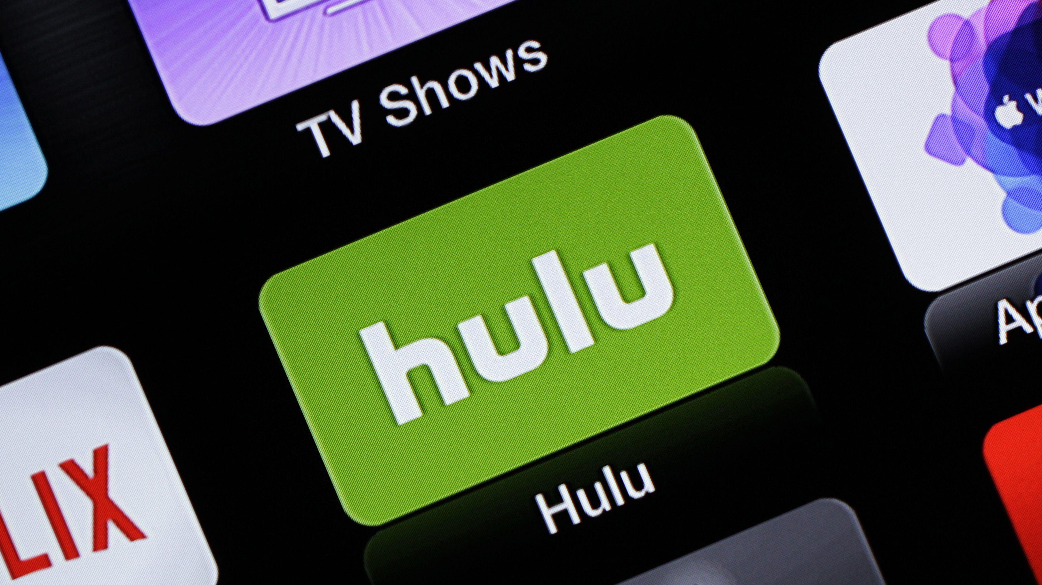 This June 24, 2015 photo shows the Hulu Apple TV app icon, in South Orange, N.J.  (AP Photo/Dan Goodman)