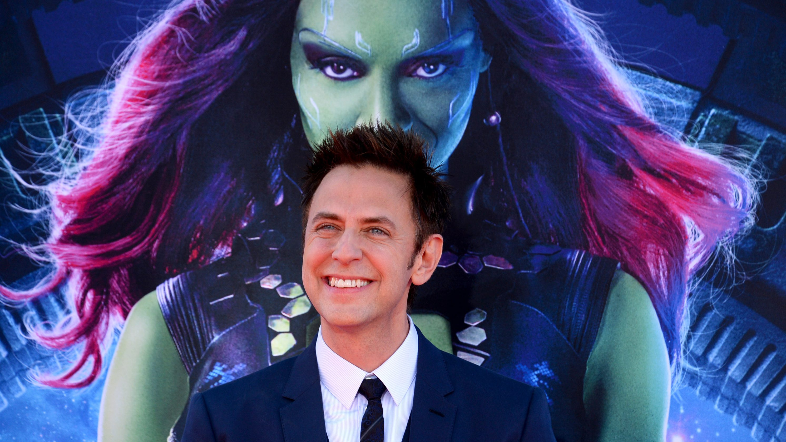 """James Gunn arrives at The Galaxy"""" at El Capitan Theatre on Monday, July 21, 2014, in Los Angeles. (Photo by Jordan Strauss/Invision/AP)"""