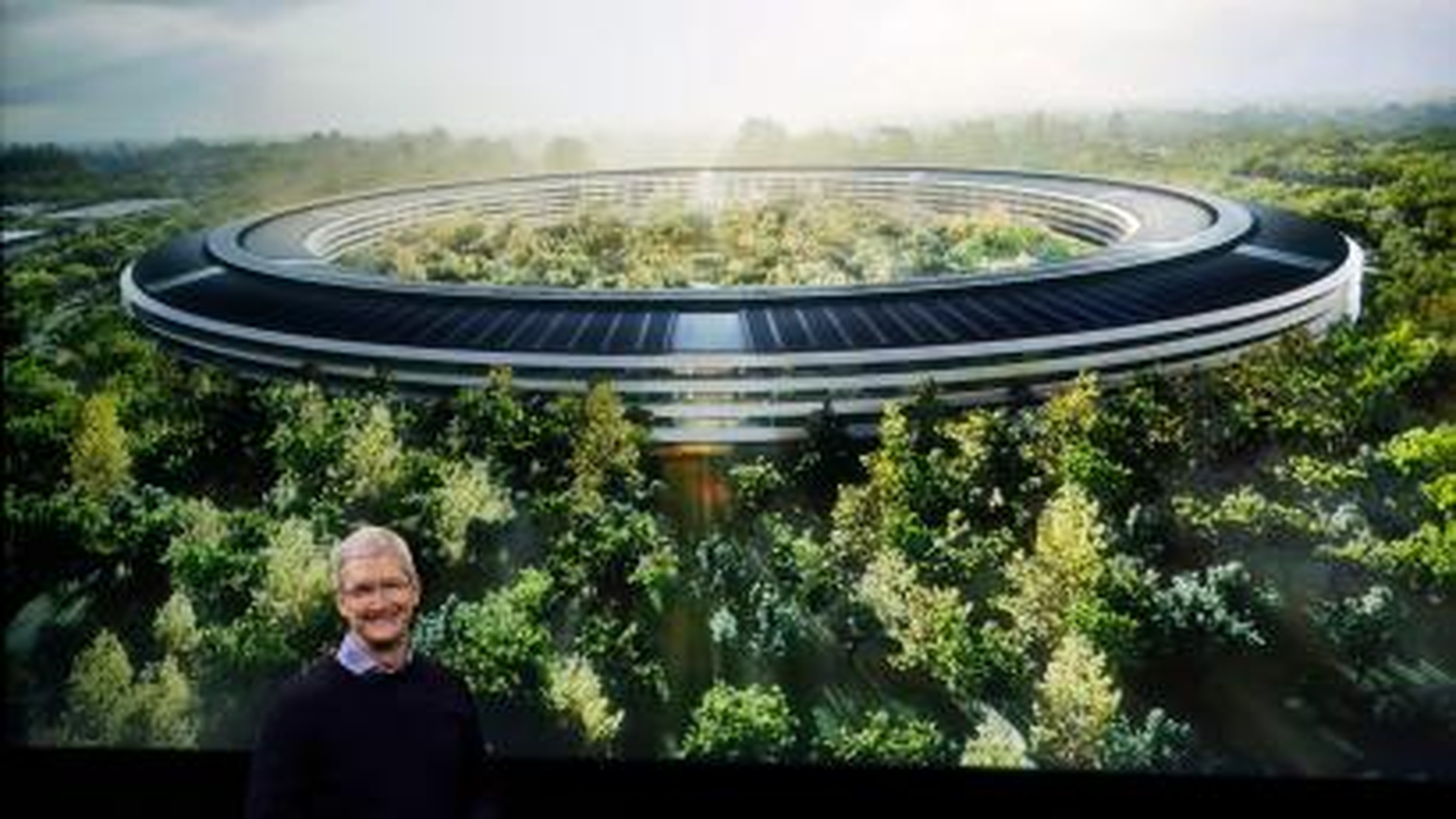 Apples new $5 billion apple park campus has a 100 000 square foot