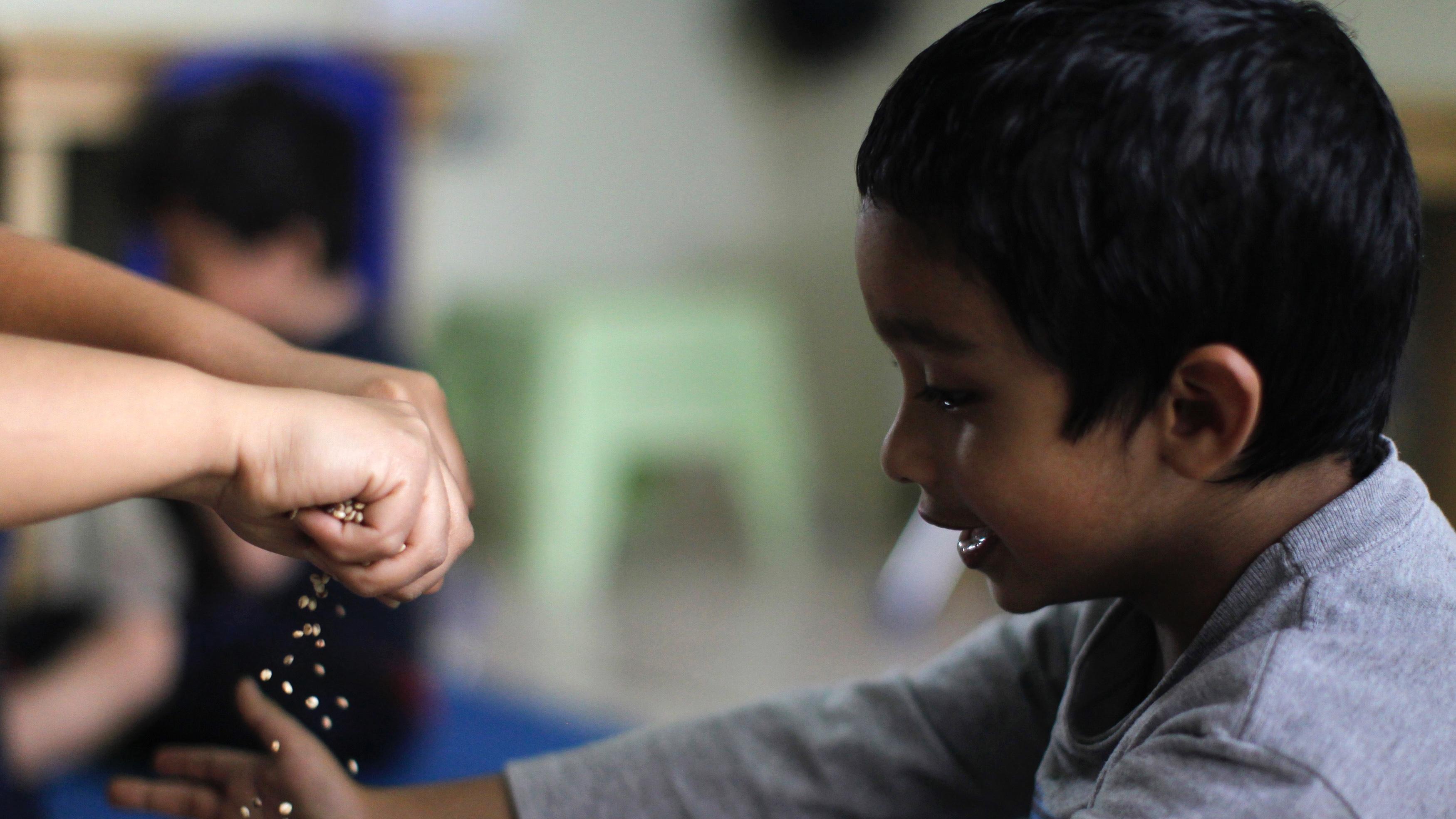 An autistic boy in Guatemala.