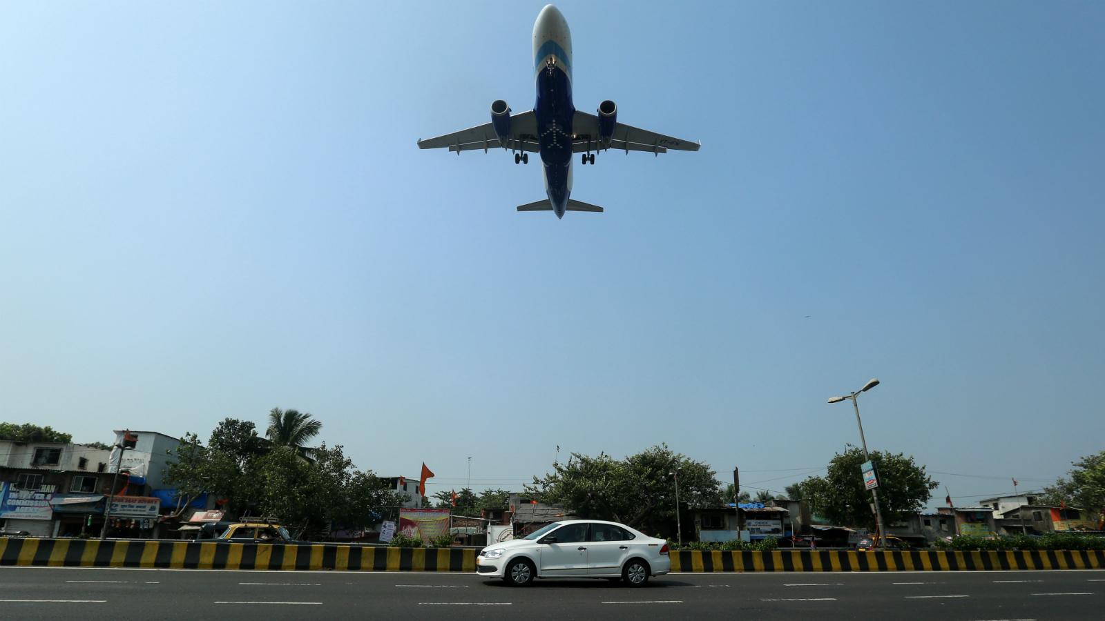 An Airbus A320-232 aircraft of Indian carrier IndiGo landing at the Chhatrapti Shivaji International Airport in Mumbai, India, 01 November 2015. India's budget airline IndiGo made a strong showing on its debut on the stock exchange 10 November 2015 with shares of its parent company InterGlobe Aviation Limited opening about 12 per cent higher than its issue price. The company received a robust response to its initial public offering (IPO) in October, raising 30.1 billion rupees (453.52 million dollars) with shares being oversubscribed by six times, mainly through foreign institutional investors. Founded in 2006, no-frills IndiGo is India's biggest airline by market share at 33.8 per cent.