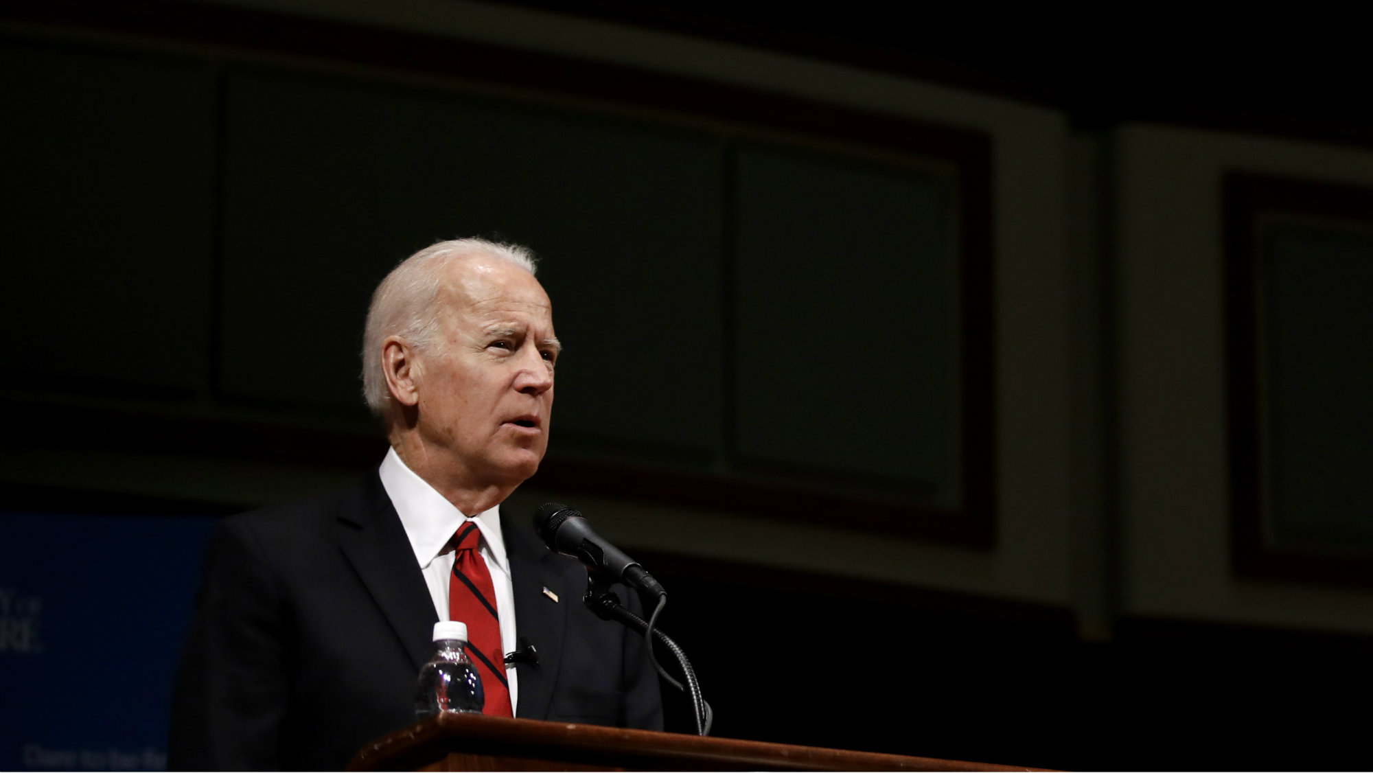 Former Vice President Joe Biden speaks during an event to formally launch the Biden Institute, a research and policy center focused on domestic issues at the University of Delaware, in Newark, Del., Monday, March 13, 2017.