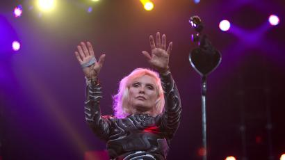 Debbie Harry of Blondie performs during the Amnesty International benefit concert in the Brooklyn borough of New York