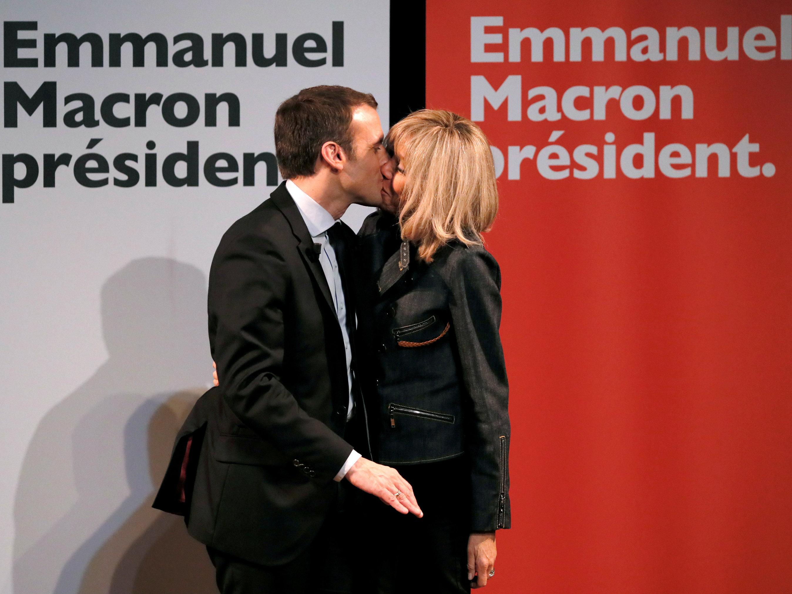 Emmanuel Macron S Wife Brigitte Macron Who Is 24 Years His Senior Is His Closest Political Advisor Quartz