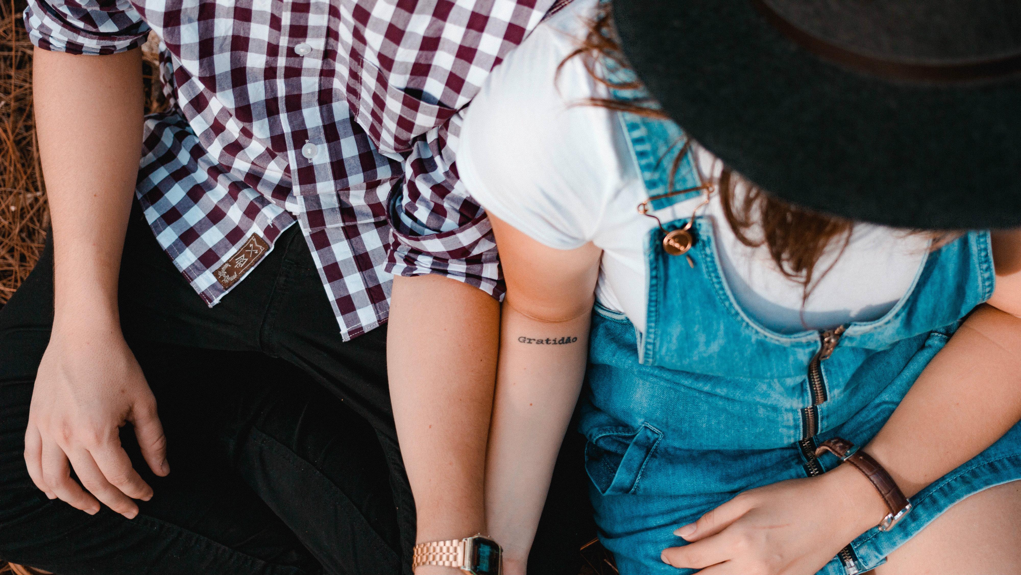 Tweens holding hands