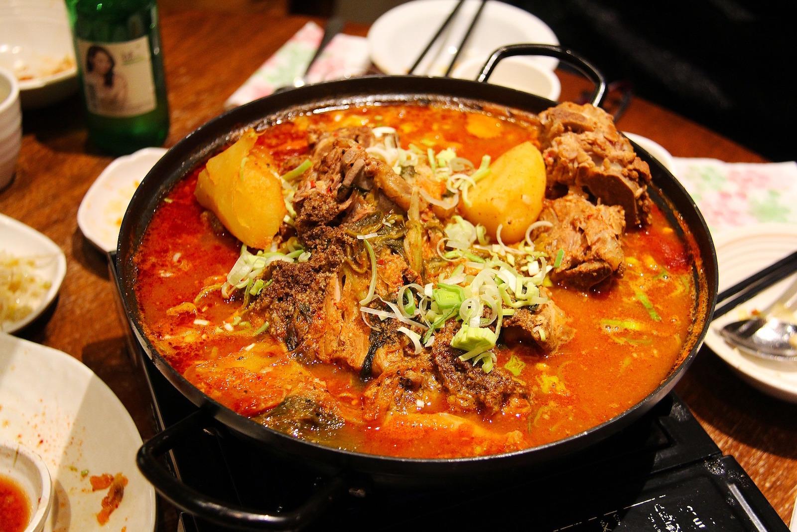 korean beef stew food